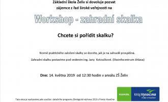 Workshop - zahradní skalka