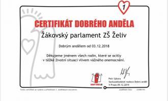 Certifikát Dobrého anděla