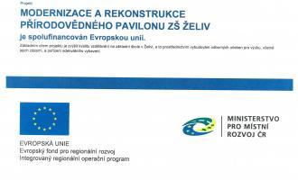 Projekt modernizace a rekonstrukce přírodovědného pavilonu ZŠ Želiv