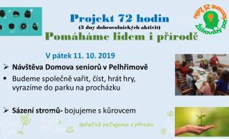 Pomáháme lidem i přírodě- Projekt 72 hodin